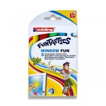 Popisovač Edding Funtastics Window základní barvy, 5 barev