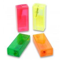Ořezávátko Faber-Castell Flue - s odpadní nádobkou 1 otvor, mix barev