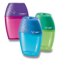 Ořezávátko Maped Shaker - s odpadní nádobkou 1 otvor, blistr, mix barev