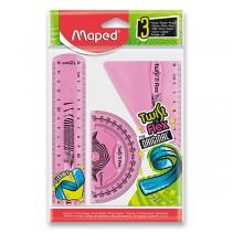 Sada pravítek Maped Twist´n Flex 3dílná sada, mix barev