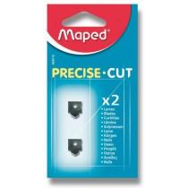 Náhradní břity pro řezačku Maped Precise Cut 2 ks břitů, přímý řez