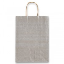 Dárková taška Allegra stříbrná, M