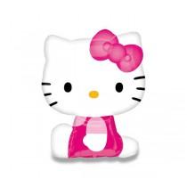 Fóliový party balónek 3D - Hello Kitty, růžový