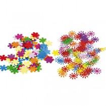 Barevné konfety květiny 15 g, mix tvarů