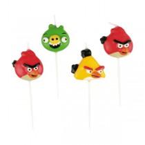 Dortové svíčky Angry Birds, mix motivů 4 ks