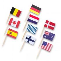 Napichovátka - vlaječky 30 ks