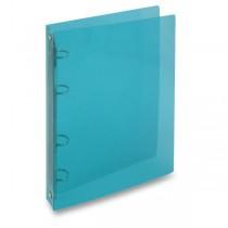4kroužkový pořadač Transparent modrý