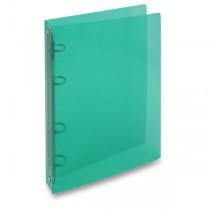 4kroužkový pořadač Transparent zelený