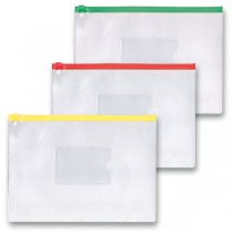 Kapsa FolderMate na zip A5, transparentní, mix barev