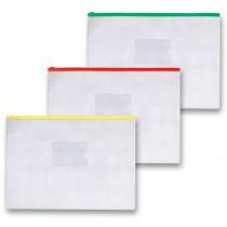 Kapsa FolderMate na zip A4, transparentní, mix barev