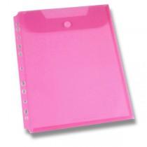 Spisovka závěsná FolderMate Clear červená, A4