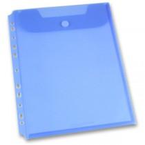 Spisovka závěsná FolderMate Clear modrá, A4