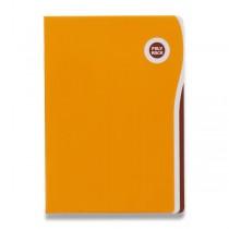 Zakládací desky Poly Rock A5 oranžové, A5