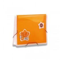 Aktovka na dokumenty Poly Rock oranžová, A5