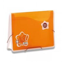 Aktovka na dokumenty Poly Rock oranžová, A4