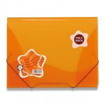 3chlopňové desky Poly Rock oranžové, A4