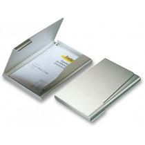 Zásobník na vizitky Durable - stříbrný na 20 vizitek