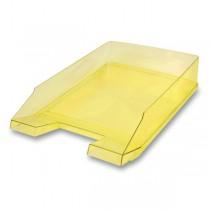 Odkladač Economy Transparent žlutý