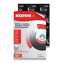 Uhlový papír Kores Carbonet - černý 100 listů