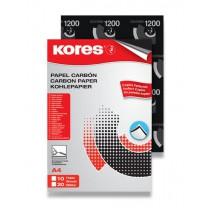 Uhlový papír Kores Carbonet - černý 20 listů