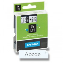 Samolepicí polyesterové pásky Dymo pro štítkovače černá / transparentní