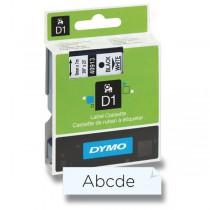 Dymo - samolepicí polyesterové pásky pro štítkovače černá / transparentní