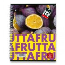 Kroužkový blok Pigna Fruits A5, linkovaný, 80 listů, mix motivů