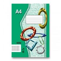 Školní sešit EKO 425 A4, čtverečkovaný, 20 listů