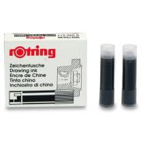 Bombičky pro technická pera Rotring Isograph černé, 5 ks