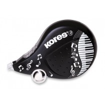Korekční strojek Kores Scooter Black White 4,2 mm x 8 m, mix motivů