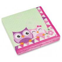 Ubrousky Happy Owl 33 x 33 cm, 20 ks