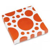 Ubrousky Solid Color Dots oranžové