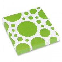 Ubrousky Solid Color Dots zelené