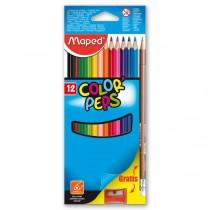 Pastelky Maped Color´Peps 12 barev + ořezávátko a grafitová tužka