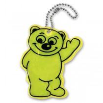 Reflexní přívěšek Compass Medvěd žlutý