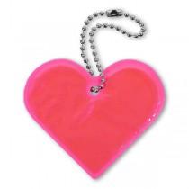 Reflexní přívěsek Comapss Srdce růžový