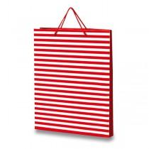 Dárková taška Stripes červená