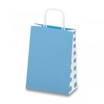 Dárková taška Tinta Unita Dots modrá