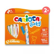 Dětské fixy Carioca Super Baby 12 barev