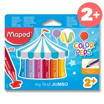 Voskovky Maped Color´Peps Wax Jumbo 12 barev, trojhranné