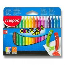 Voskovky Maped Color´Peps Wax 18 barev, trojhranné
