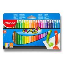 Voskovky Maped Color´Peps Wax 24 barev, trojhranné