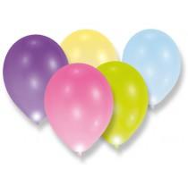 Nafukovací LED balónky - pastelové 5 ks