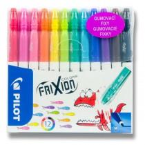 Gumovací fixy Pilot 4204 FriXion Colors 12 barev