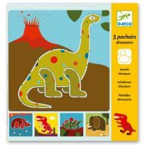 Šablony Djeco - Dinosauři