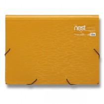 Aktovka na spisy FolderMate Nest zlatožlutá