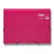 Aktovka na spisy FolderMate Nest růžová