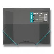 Tříchlopňové desky s gumou FolderMate Pop Gear Plus kouřová
