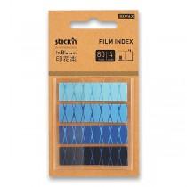 Samolepicí záložky Hopax Stick'n Pop-Up in Bloom 45 x 12 mm, 4 x 20 listů, modré