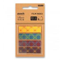 Samolepicí záložky Hopax Stick'n Pop-Up in Bloom 45 x 12 mm, 4 x 20 listů, vzory